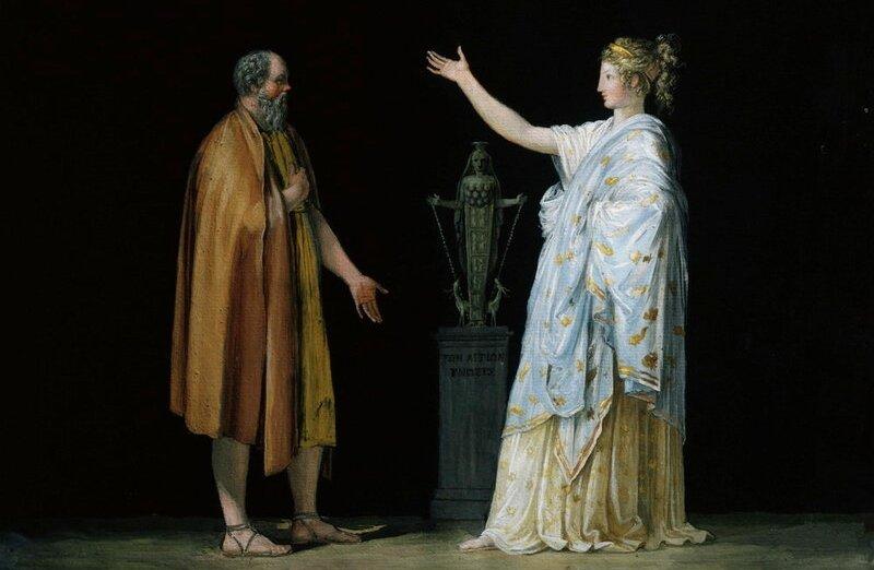 Сократ и Ксантиппа