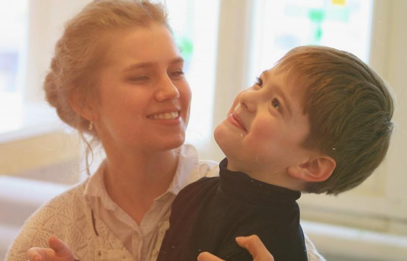 Мельникова с сыном