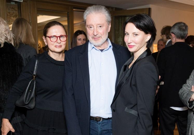Вениамин Смехов с Галиной и Аликой