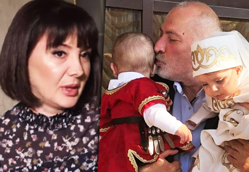 Виталий Калоев с женой и детьми
