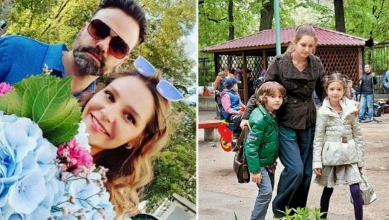Глафира Тарханова с детьми