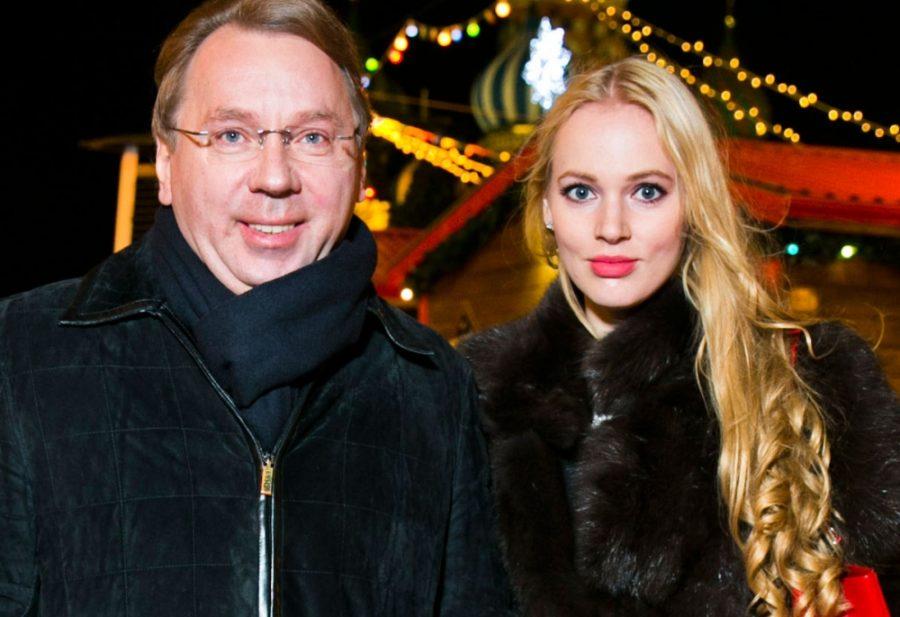 Олеся Бословяк с мужем