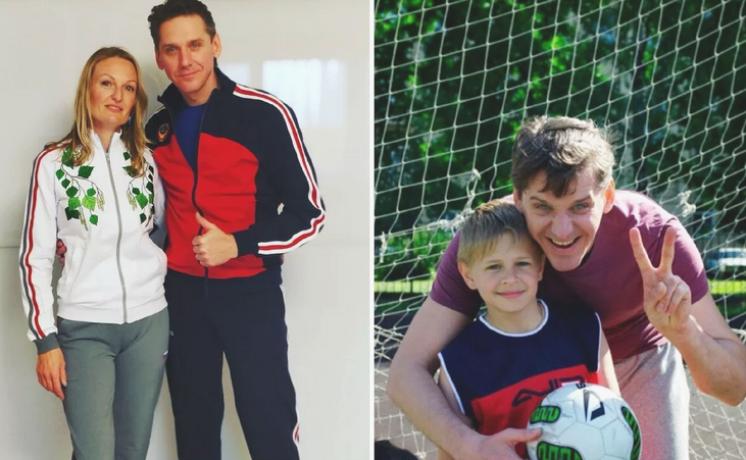 Юрий Батурин с женой и ребенком