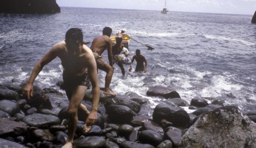 Мальчики подростки на острове